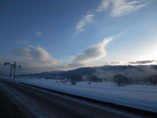 キレイだった朝焼けの田園風景