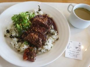 ゲレ食ランキング1位の野沢菜ビーフステーキライス