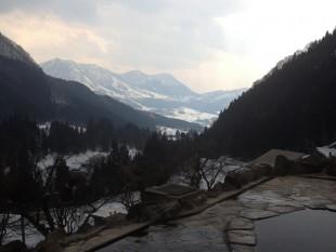 馬曲温泉からの絶景露天風呂