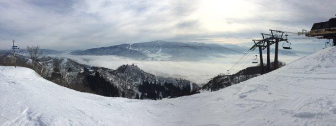 雲海が綺麗にできてました。