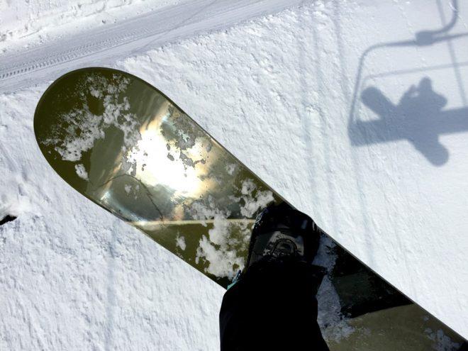 168のロングボードで滑ってました。