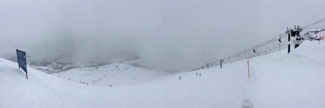 ガスが上がって来る前の山頂