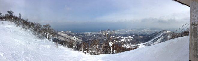 山頂からの景色。日本海も見えた!