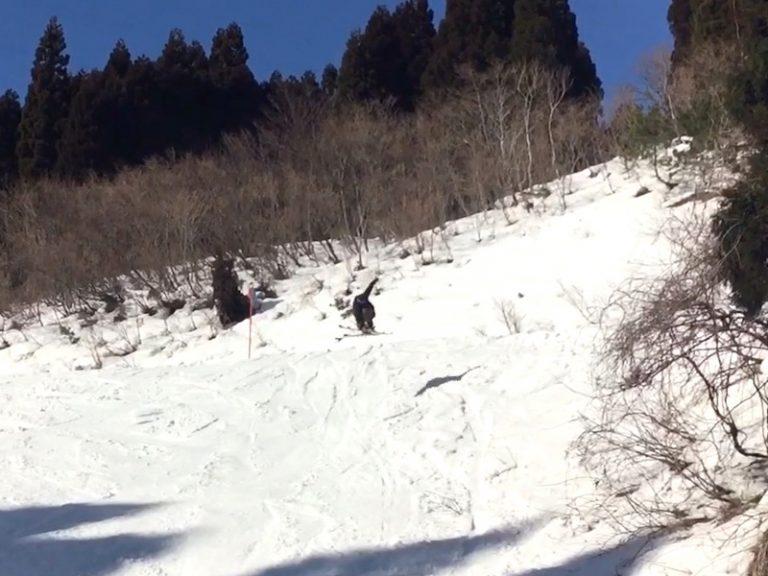 """2017/02/04 福井県 今庄365スキー場 """"落ち系でのジャンプ"""""""