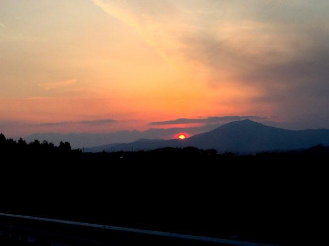 晴れてたから夕日も綺麗に見えました。