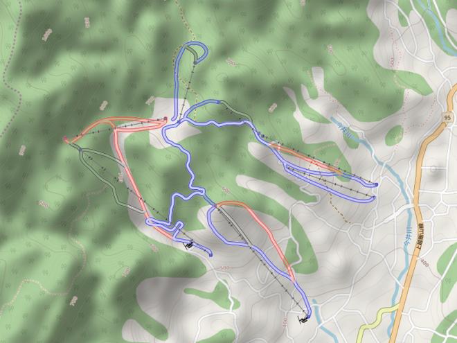 OpenSkiMapの戸狩温泉スキー場詳細