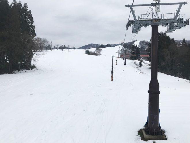 人の少ない戸狩温泉スキー場