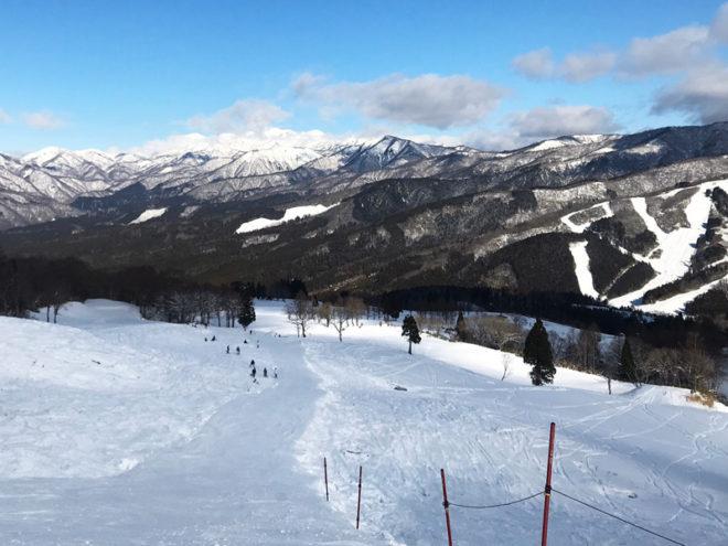 白鳥高原の山頂からの様子