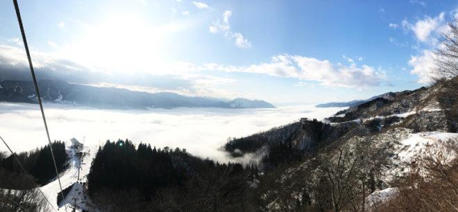 オリオンゲレンデ上部からの雲海
