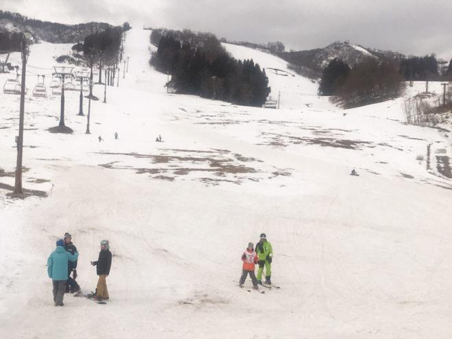 雪のないペガサスゲレンデ。